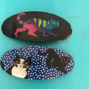 Multi Cats Hair Clip Set of 2